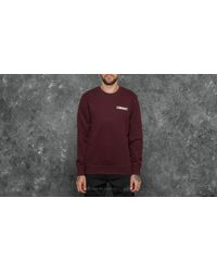 Carhartt WIP Purple College Script Sweat Damson/ White for men