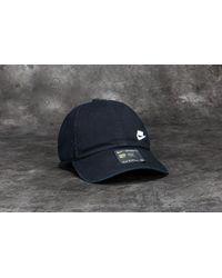 bc78f561158 Lyst - Nike Futura Classic Heritage 86 Cap Black  White in Black for Men
