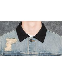PUMA Blue X Xo Denim Jacket Bleached Denim for men