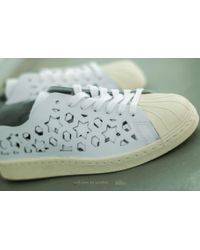 Adidas Originals - Adidas Superstar 80s Cut Out W Ftw White/ Ftw White/ Core White - Lyst