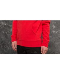 Huf Serif Stack Pullover Fleece Hoodie Red for men