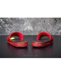 Nike Benassi Solarsoft University Red/ Black for men
