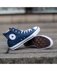 Converse - Blue All Star High Trainers - Navy for Men - Lyst
