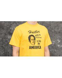 Footshop 40s & Shorties X Hustler Only In America Tee Yellow for men