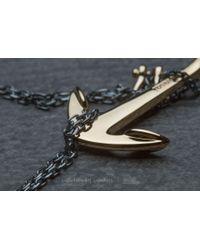 Footshop - Metallic Miansai Anchor Necklace Gold Oxidized - Lyst