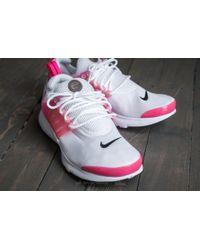 d81b85145dcc Lyst - Nike Presto (gs) White  Black-hyper Pink