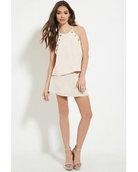 Forever 21 - Natural Grommet-front Top - Lyst