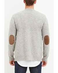 Forever 21 - Gray Classic Wool-blend Cardigan for Men - Lyst