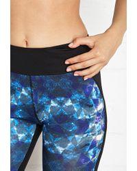 Forever 21 - Blue Active Prism Print Workout Capri Leggings - Lyst
