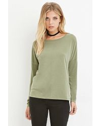 Forever 21 - Green Contemporary Boxy Long-sleeve Top - Lyst