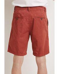 Forever 21   Brown Cotton Drawstring Shorts for Men   Lyst