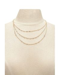 Forever 21 - Multicolor Women's Rhinestone Layer Necklace - Lyst