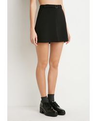 Forever 21 - Black Kick-pleat Mini Skirt - Lyst