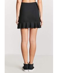 Forever 21 - Black Fluted Mini Skirt - Lyst