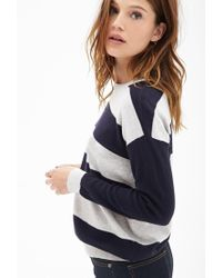 Forever 21 - Gray Rugby Striped Sweater - Lyst