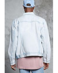 Forever 21 - Blue Faded Wash Denim Jacket for Men - Lyst