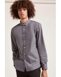Forever 21 - Gray Cotton-blend Slim-fit Shirt for Men - Lyst