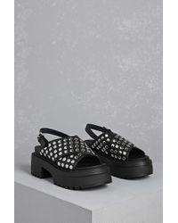 373af58062f Lyst - Forever 21 Shellys London Studded Sandals in Black