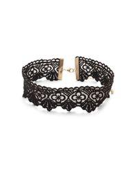 Forever 21 - Black Scalloped Crochet Choker - Lyst