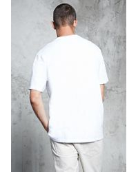 Forever 21 - White Slub Knit Zipper Pocket Tee for Men - Lyst