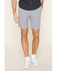 Forever 21 | Blue Twill Woven Shorts for Men | Lyst