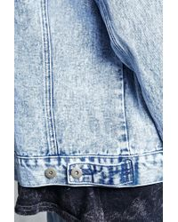 Forever 21 - Blue Acid Wash Denim Jacket for Men - Lyst