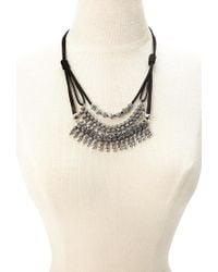 Forever 21 - Black Layered Statement Necklace - Lyst