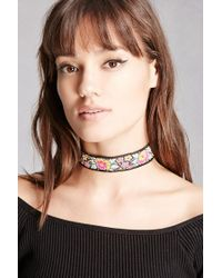 Forever 21 | Multicolor Raj Floral Embroidered Choker | Lyst