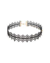 Forever 21 - Black Ornate Crochet Choker - Lyst