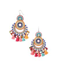 Forever 21 - Multicolor Beaded Chandelier Earrings - Lyst