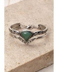 Forever 21 - Green Faux Stone Engraved Bracelet Set - Lyst