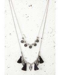 Forever 21 | Metallic Tasseled Arrow Charm Necklace | Lyst