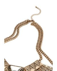 Forever 21 - Metallic Pendant Bib Necklace - Lyst