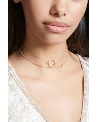 Forever 21 | Metallic O-ring Chain Choker | Lyst