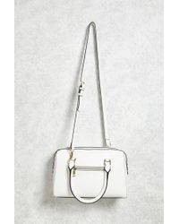 Forever 21 | White Faux Leather Satchel | Lyst