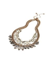 Forever 21 | Metallic Faux Gemstone Necklace Set | Lyst