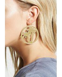 Forever 21 - Metallic Palm Tree Drop Earrings - Lyst