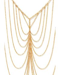 Forever 21 - Orange Draped Chain Necklace - Lyst