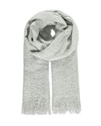 Forever 21 - Gray Fuzzy Oblong Scarf - Lyst