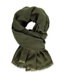 Forever 21 - Green Frayed Oblong Scarf - Lyst
