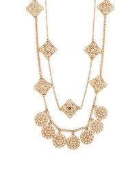Forever 21 - Metallic Filigree Charm Layered Necklace - Lyst