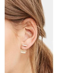 Forever 21 | Metallic Geo Ear Jacket And Stud Set | Lyst