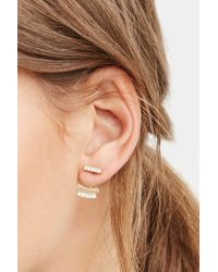 Forever 21 - Metallic Geo Ear Jacket And Stud Set - Lyst