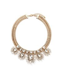 Forever 21 - Metallic Rhinestone Statement Necklace - Lyst