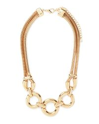 Forever 21 | Metallic Circle Pendant Necklace | Lyst