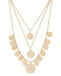 Forever 21 - Metallic Medallion Layered Necklace - Lyst