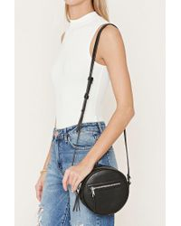 Forever 21 | Black Faux Leather Crossbody | Lyst