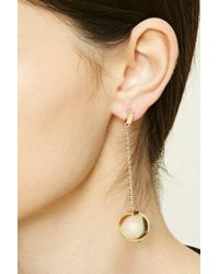 Forever 21 - Metallic Ball Drop Earrings - Lyst