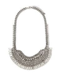 Forever 21 - Metallic Curb Chain Statement Necklace - Lyst