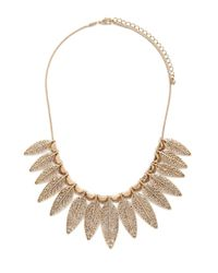 Forever 21 | Metallic Leaf Statement Necklace | Lyst